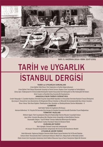 Tarih ve Uygarlık - istanbul Dergisi Sayı: 5